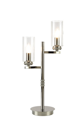 Clara 2lt Table Lamp - Polished Nickel