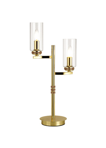 Clara 2lt Table Lamp - Gold