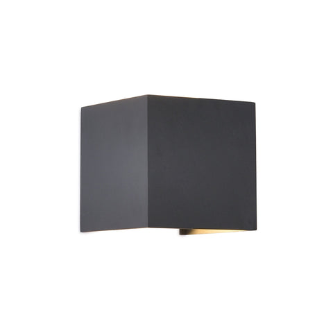 Davos Square Wall Lamp, 12W LED, 3000K, 1100lm, IP54, Anthracite, 3yrs Warranty