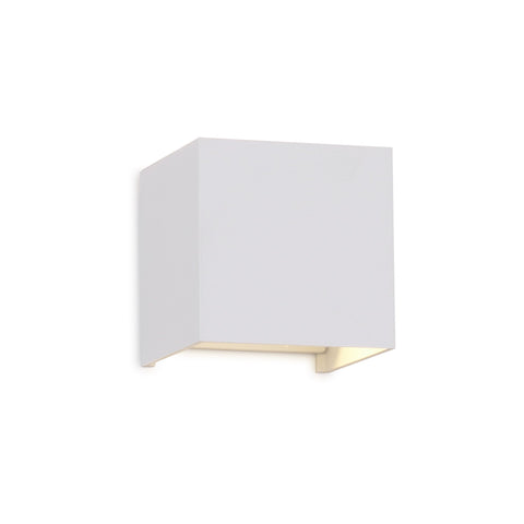 Davos Square Wall Lamp, 12W LED, 3000K, 1100lm, IP54, Sand White, 3yrs Warranty