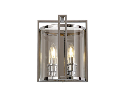 Eaton 2lt Wall Lamp - Polished Chrome