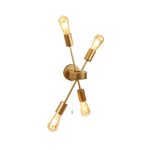 ALPHA 4LT WALL LIGHT MATT GOLD