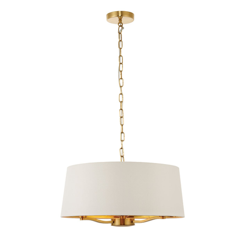 Harvey 3lt pendant satin gold 40W