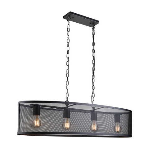 AUTUMN 4LT OVAL PENDANT MATT BLACK