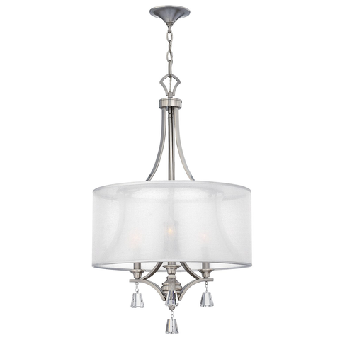 Mime 3 light Pendant Satin Chrome