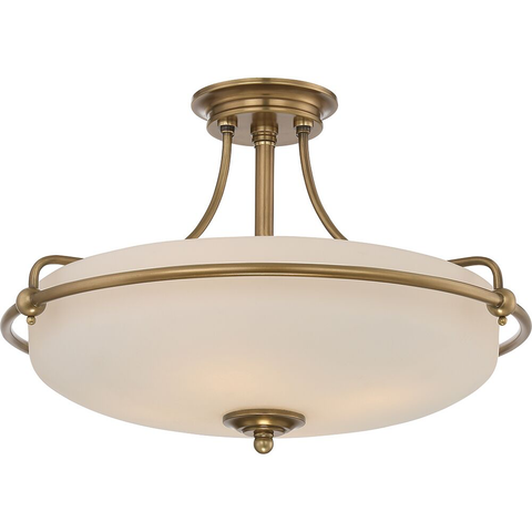 Griffin 4 Light Semi-Flush Light – Weathered Brass