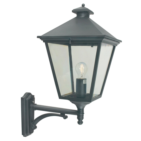 Turin 1 Light Grande Wall Lantern – Black