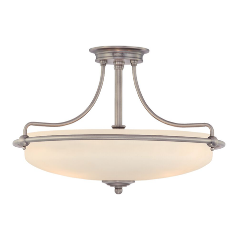 Griffin 4 Light Semi-Flush Light – Antique Nickel