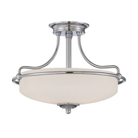 Griffin 3 Light Semi-Flush Light – Antique Nickel