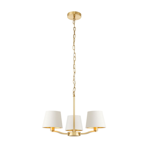 Harvey 3 arm pendant satin gold 40W