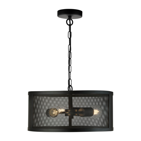 AUTUMN 3LT DRUM PENDANT MATT BLACK