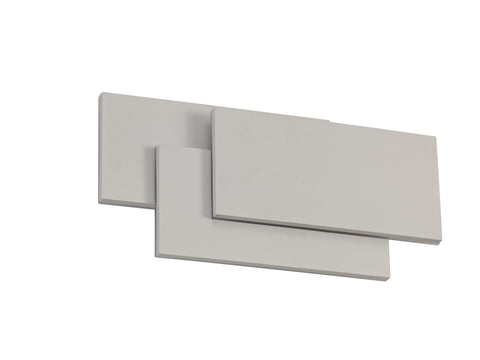 Kiania Wall Light Rectangular, 12W LED 3000K, Sand White, 490lm, 3yrs Warranty