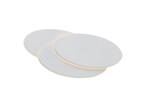 Kiania Wall Light Oval, 12W LED 3000K, Sand White, 490lm, 3yrs Warranty