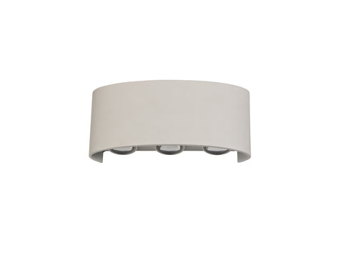 Leoni Up & Downward Lighting Wall Light, 6W LED 3000K, Sand White, 500lm, IP54, 3yrs Warranty