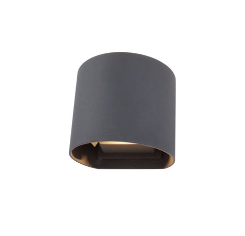 Ottawa Up & Downward Lighting Wall Light 2x3W LED 3000K, Anthracite, 410lm, IP54, 3yrs Warranty