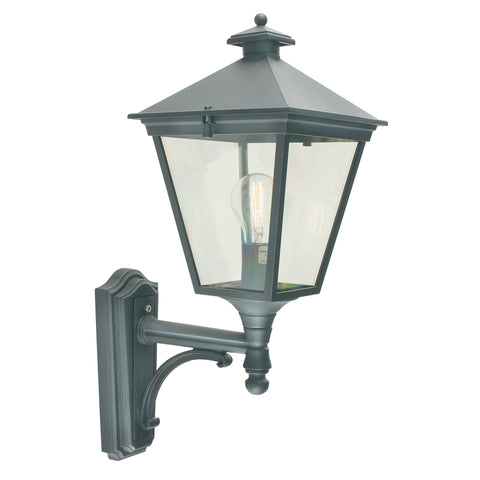 Turin 1 Light Up Wall Lantern – Black
