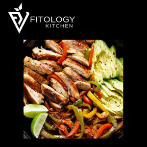 Chicken Fajita with Brown Mexican Rice & Guacamole