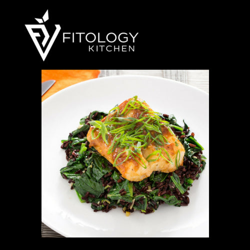 Poached Cod & Beetroot Pilaf Black Rice Salad