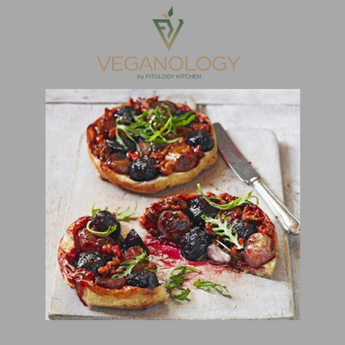 Beetroot, Orange & Red Onion Tarte Tatin with Spinach & Rocket Salad