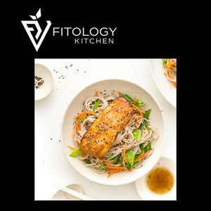 Miso Grilled Salmon with Asian Slaw And Sweet Potato