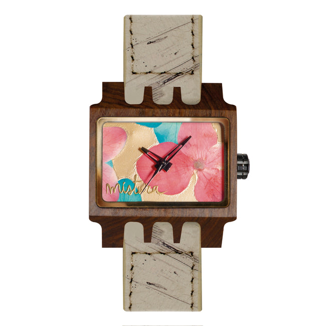 Wood Flowers Watch Lenzo