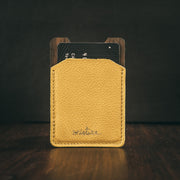 Mini wallet money clip amarilla