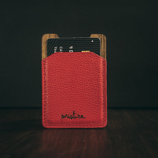 Mini wallet money clip roja