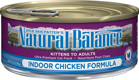 Natural Balance Indoor Chicken Formula Canned Cat Food