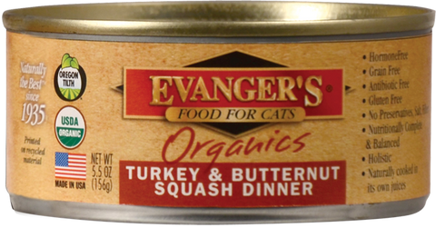 Evangers Organics Turkey and Butternut Squash Canned Cat Food