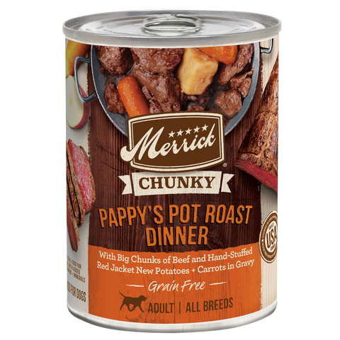 Merrick Grain Free Chunky Pappy's Pot Roast Dinner Canned Dog Food