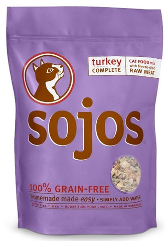 Sojos Turkey Complete Cat Food Mix
