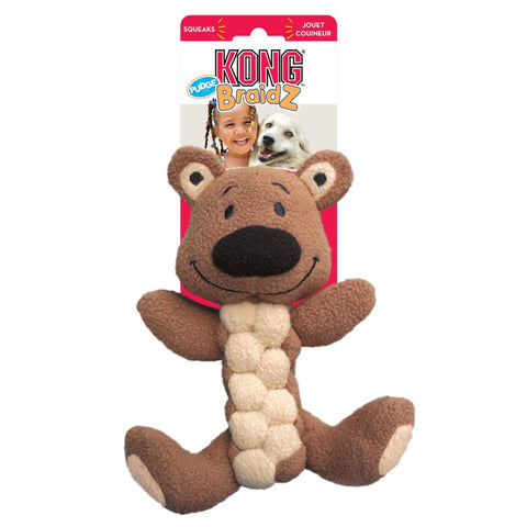 KONG Pudge Briadz Bear Dog Toy