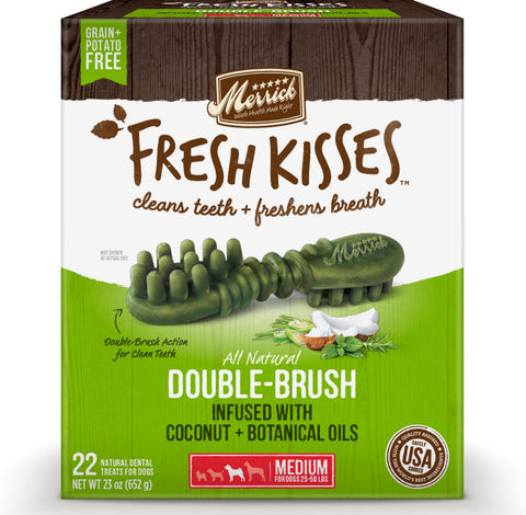 Merrick Fresh Kisses Grain Free Coconut Oil & Botanicals Medium Dog Treat Box