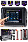 Dual Touch Screen Lipo Charger/Discharger - Included Fireproof Bag and Charging Parallel Board Plate