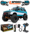 1:10 Scale GRANDO RC Rock Crawler - Blue/Green