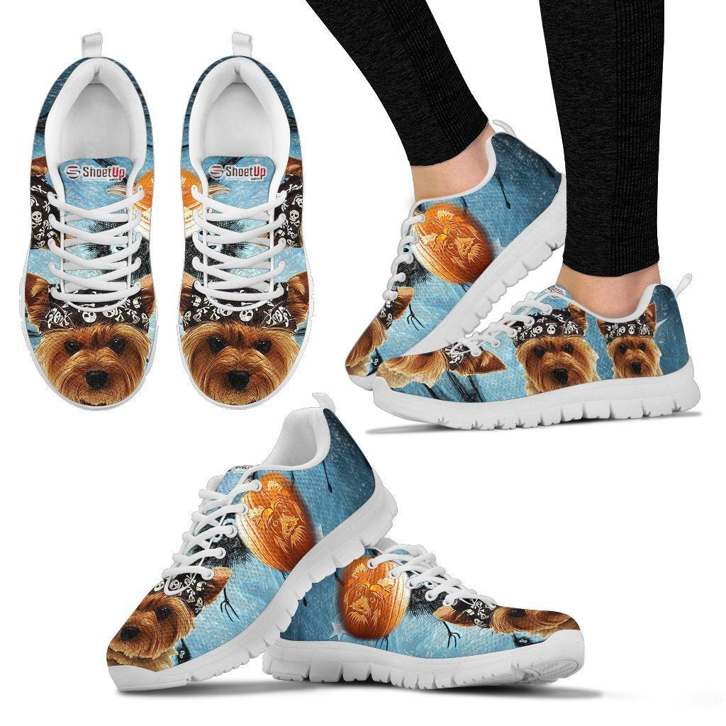 Yorkshire Shoes Terrier Halloween Print Running Shoes Yorkshire For Kids And Women- Free Shippin a7a40b