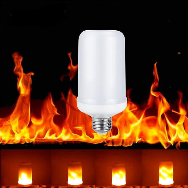 LED Flame Effect Fire Light Bulb Lamp - Unique Deals