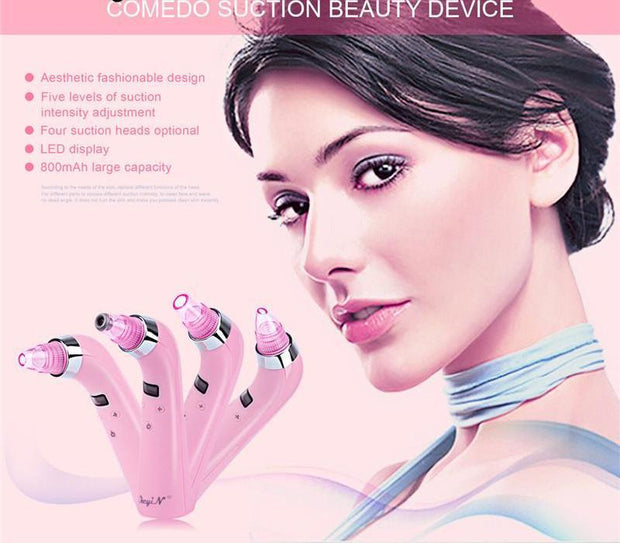 4 IN 1 Comedo Blackhead Vacuum Suction - Unique Deals