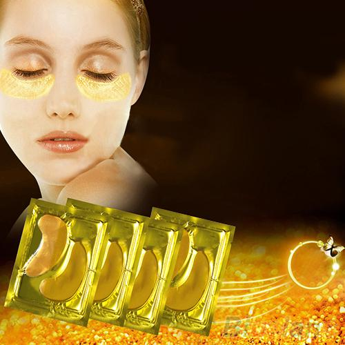 24k Gold Gel Eye Mask Eyelid Patch Anti Wrinkle Eye Care gold - Unique Deals