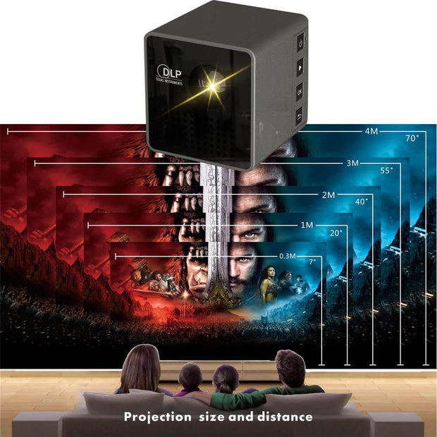 Unique Mini Cube LED Projector