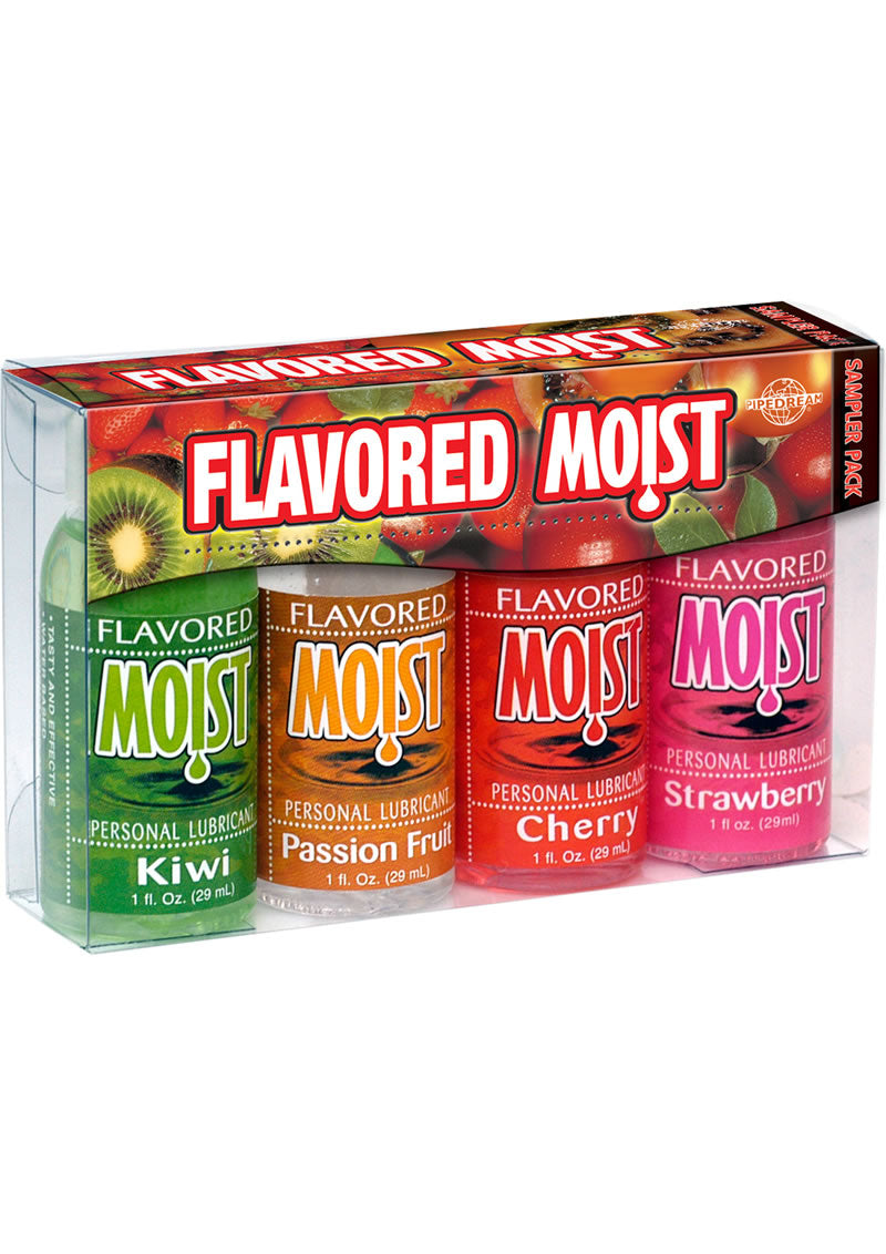 Flavored Moist Personal Lubricant 4 Pack Sampler 1 Ounce