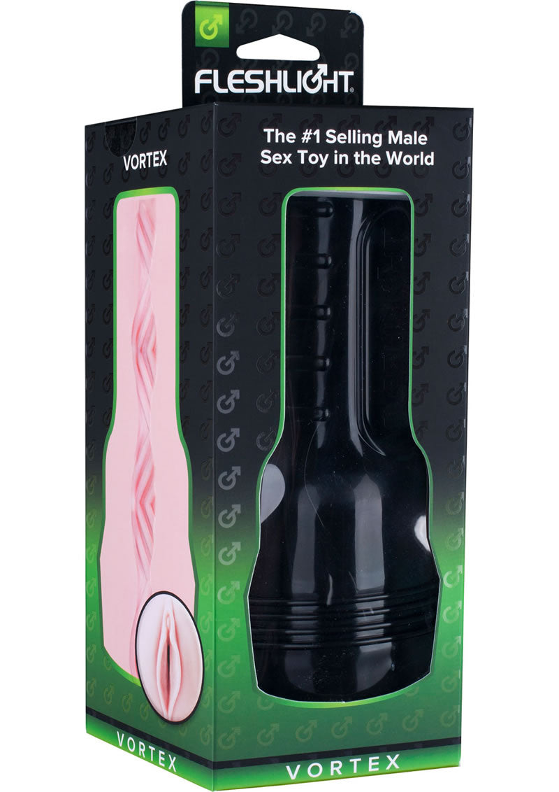 Fleshlight Toys Vortex Lady Pussy Textured Masturbator Pink With Black Case