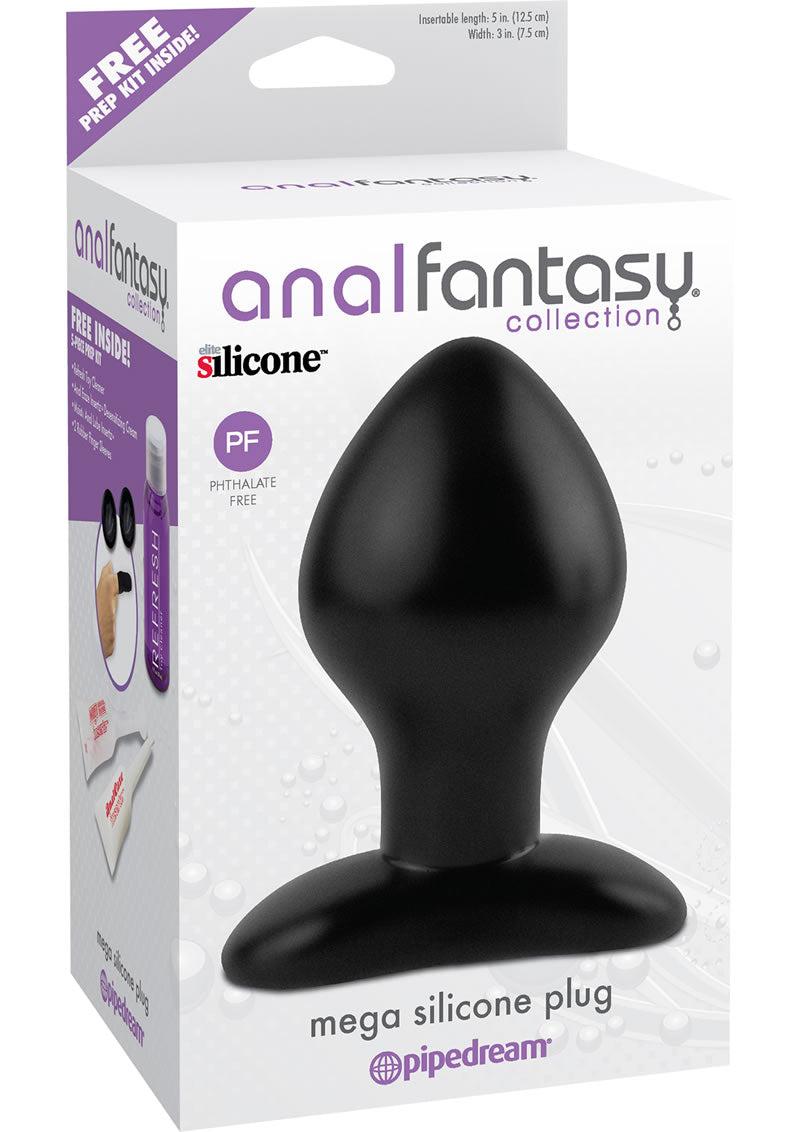 Anal Fantasy Collection Mega Silicone Plug Black 5 Inch