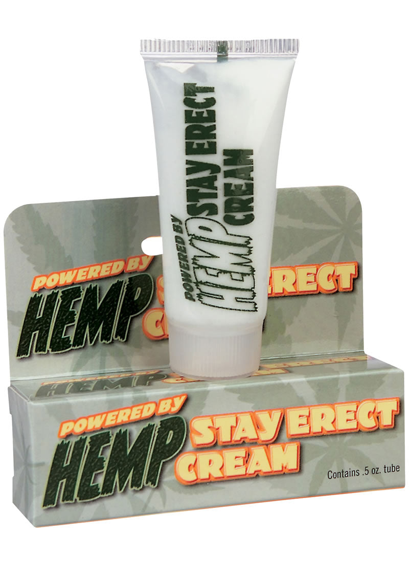 Hemp Stay Erect Cream .5 Ounce Tube
