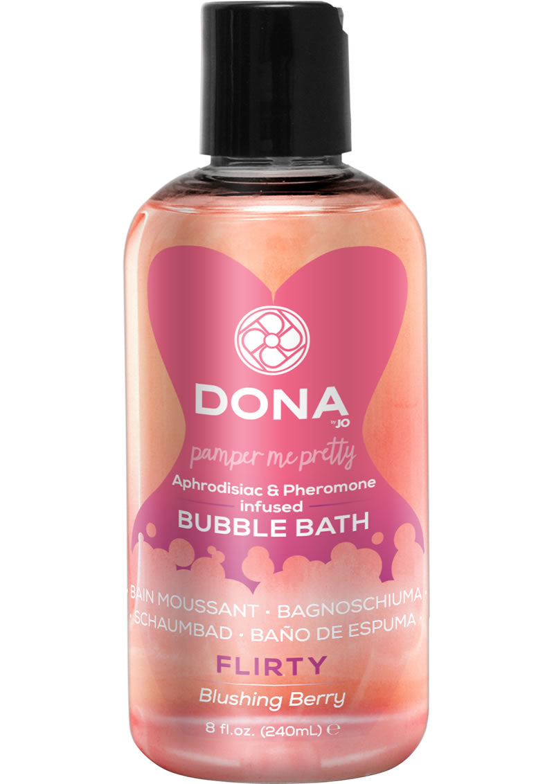 Dona Aphrodisiac and Pheromone Infused Bubble Bath Flirty Blushing Berry 8 Ounce