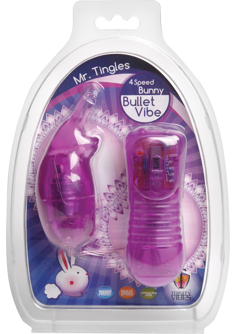 Trinity Vibes Mr. Tingles Bunny Bullet Waterproof Purple