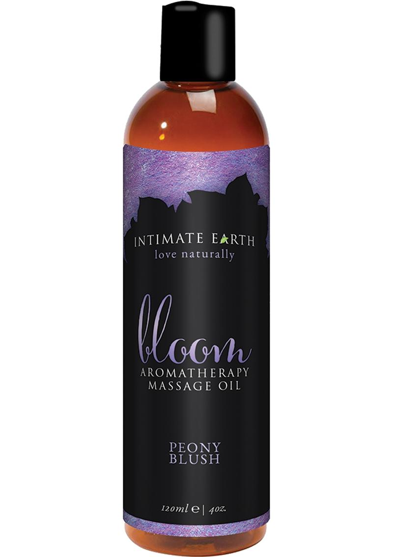 Intimate Earth Bloom Aromatherapy Massage Oil Peony Blush 4 Ounce
