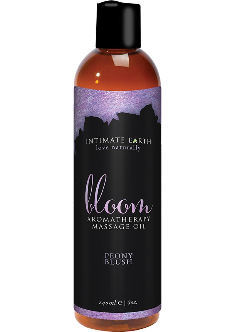 Intimate Earth Aromatherapy Massage Oil Peony Blush 8 Oz