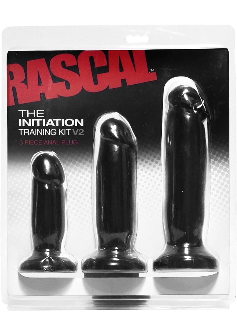 Rascal The Initiation Training Kit V2 Anal Plug Waterproof Black 3 Each Per Kit