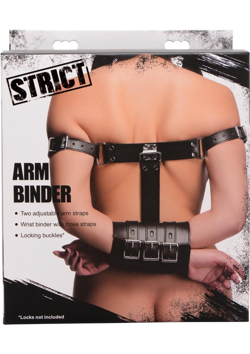Strict Arm Binder Adjustable Restraint Straps Black